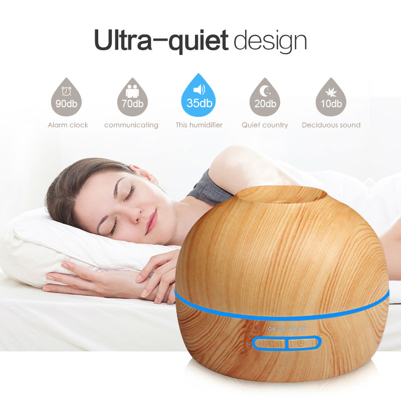 Aroma Essential Oil Diffuser Ultrasonic Cool Mist Air Humidifier Wood With Color LED Lights Aromatherapy Mist Maker for Home Spa 550ml air humidifier aromatherapy cool mist coolair essential oil diffuser led lights for home aroma ultrasonic humidifier