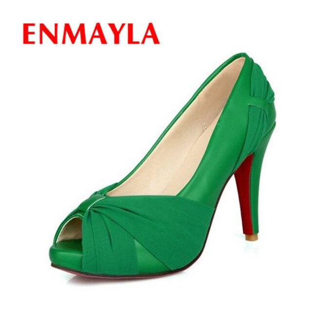 new style 282c8 01bb0 US $50.01 |ENMAYLA Fashion Women High Heels Wedding Shoes Red Bottom Bridal  Shoes Nightclub Platform Peep Toe High Heels Shoes 8 Colors-in Women's ...