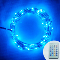 Remote Control 10M 100Led Mini Copper Wire String Lights Fairy Light for Christmas Wedding Party Halloween Bedroom Decoration