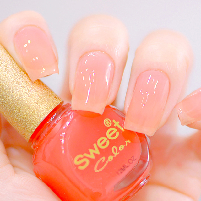 New Nail Polish Sweet Color Eco friendly Jelly Pink Painting Pink ...