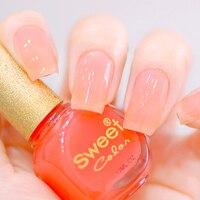 Uñas color dulce jalea ecológico pintura rosa ol conjunto del arte del clavo maquiagem uñas