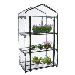 Pcv ciepły ogród Tier Mini domowego roślin cieplarnianych pokrywa domy dekoracje ogrodowe ochrony roślin kwiaty (bez żelaza stojak)|Szklarnie ogrodowe|   -