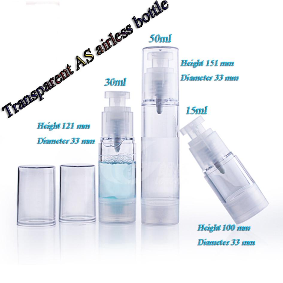 15 ml 30 ml 50 ml 50 pz/lotto COME tutto Trasparente flacone airless pompa a vuoto bottiglie usato per L'estetica Conte-in Flaconi ricaricabili da Bellezza e salute su  Gruppo 1