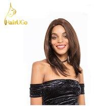 HairUGo Hair Malaysian Straight Virgin Human Hair Straight #1BColor Short Human Hair For Black Women Wigs Free Shipping HL.HILL