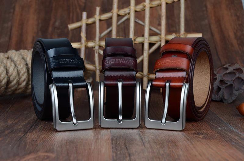حزام COWATHER جلد طبيعي للرجال 2