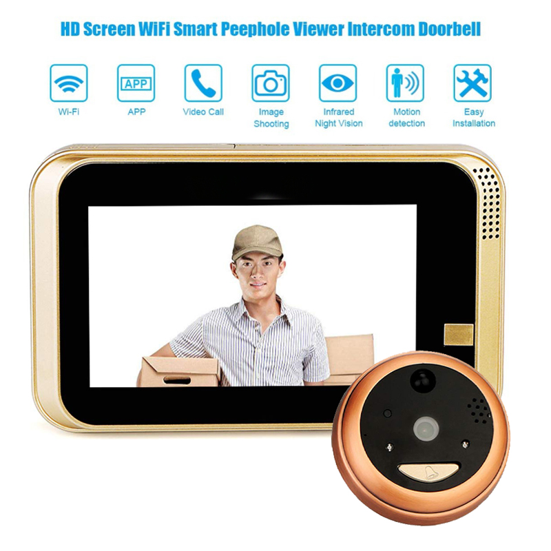 Doorbell Viewer Smart IP Peephole Camera Video Wifi 720P Security Door Motion Detection For Android IOS Smartphone WeatherproofDoorbell Viewer Smart IP Peephole Camera Video Wifi 720P Security Door Motion Detection For Android IOS Smartphone Weatherproof