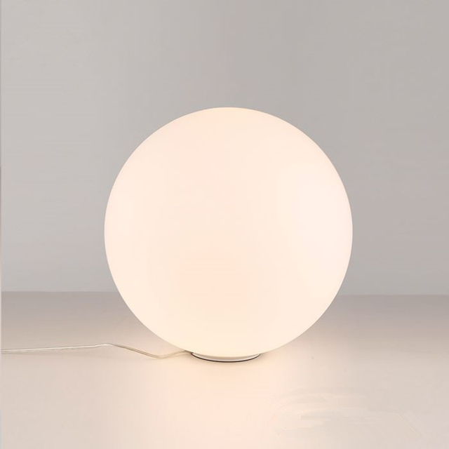 Designer Ball Fashion Table Lamp White Gl Lampshade Living Room Bedroom Bedside Light Study Reading Desk
