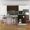 Guangzhou Modern Wood Matte Lacquer and Melamine Kitchen Cabinet OP16-L04