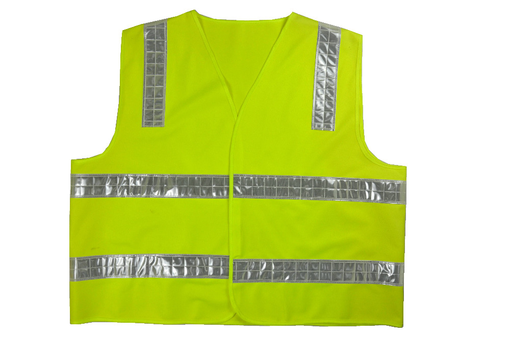 High visibility Safety Reflective Vest with White PVC Tape