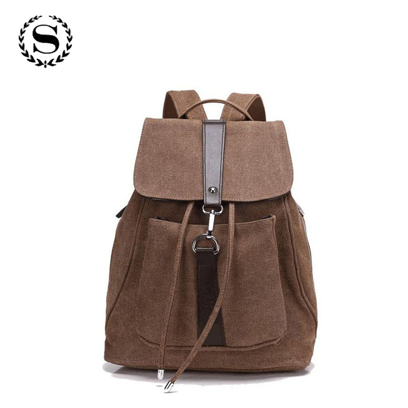 2017 vintage casual women daily backpack canvas bags student schoolbag retro drawstring bag travel zipper bagpack rucksacks 542t vintage casual canvas backpack men rucksacks women bagpack laptop backpacks satchel bag travel school bag unisex mochilas 2017
