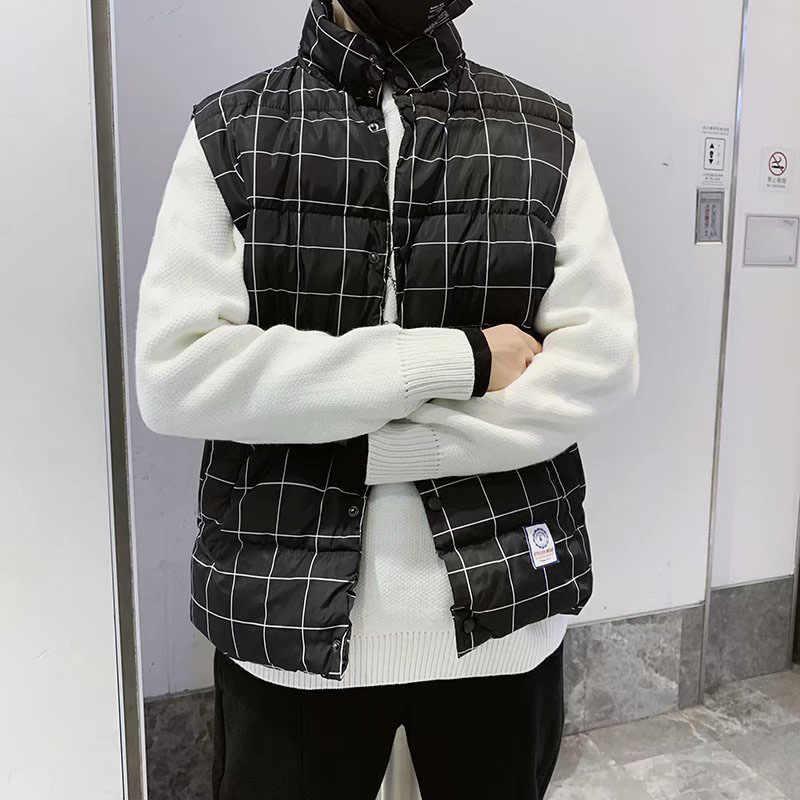 2019 Winter Casual Herren Westen Korea Stil Heißer Verkauf Unten Weste Warme Dünne Ärmellose Jacke Neue Hip Hop Pullover Tasche weste