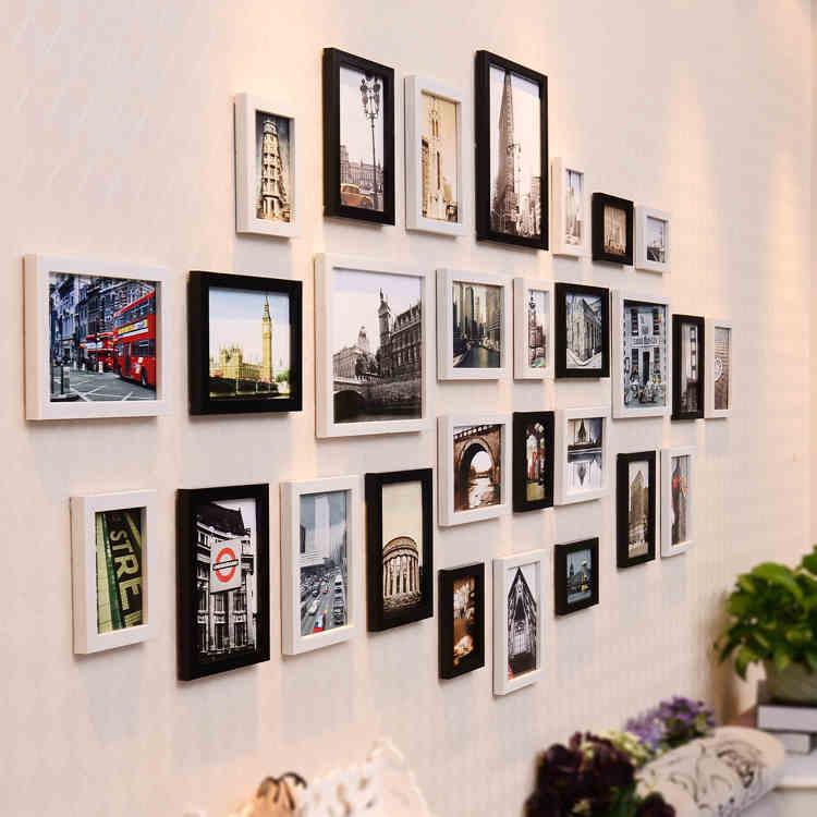 Encantador Ideas De Pared Con Marcos De Fotos Elaboración - Ideas ...