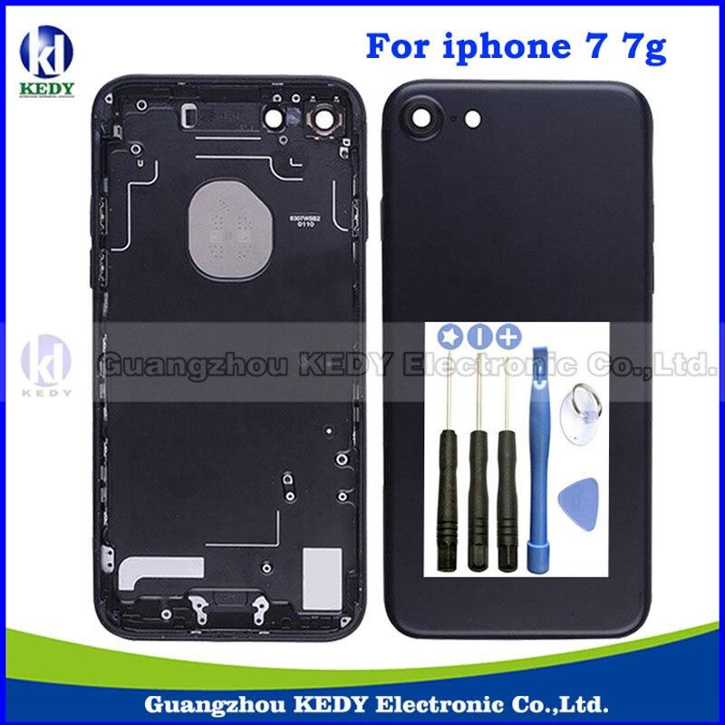 1pcs New Arrivel Original Metal Matte Black Back Housing Cover for iPhone 7 7g 4 7