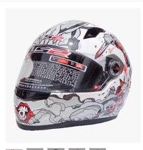 Envío libre de alta calidad genuino original LS2 FF358 casco de motocicleta compite con el casco de seguridad/Blanco/Rojo azul Locura