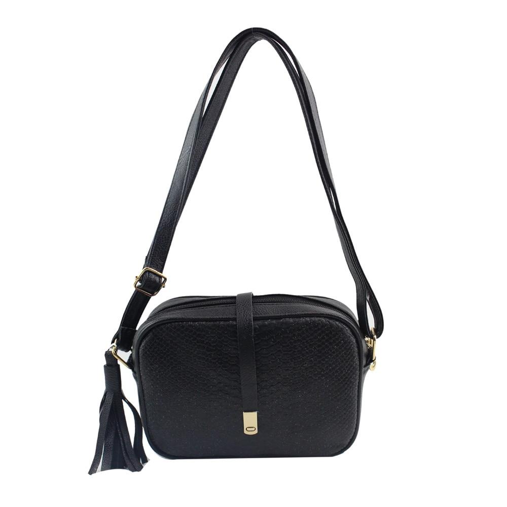 Crocodile Pattern Bag For Women Messenger Bags Ladies Retro Pu Leather Large Tote Ladies  Tassels Female Crossbody Bag Bolsos Mu