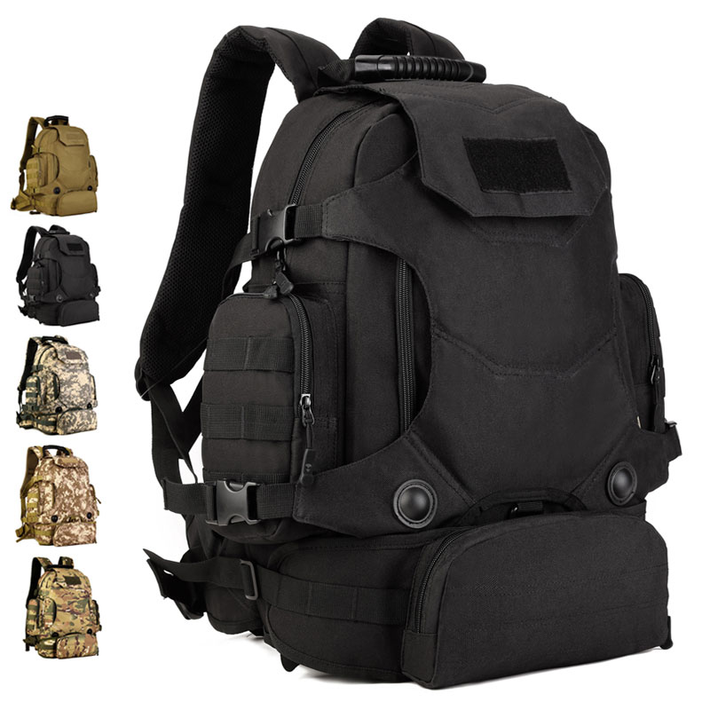 Protector Plus S427 New School Large Backpack 40L Hiking Tactical Gear Multipurpose Backpack With Removable Waist Bag
