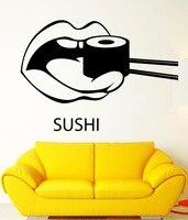 Sushi Bar Vinyl Wall Sticker Sushi Food Japan Oriental Restaurant Mural Sticker Sushi Shop Window Glass