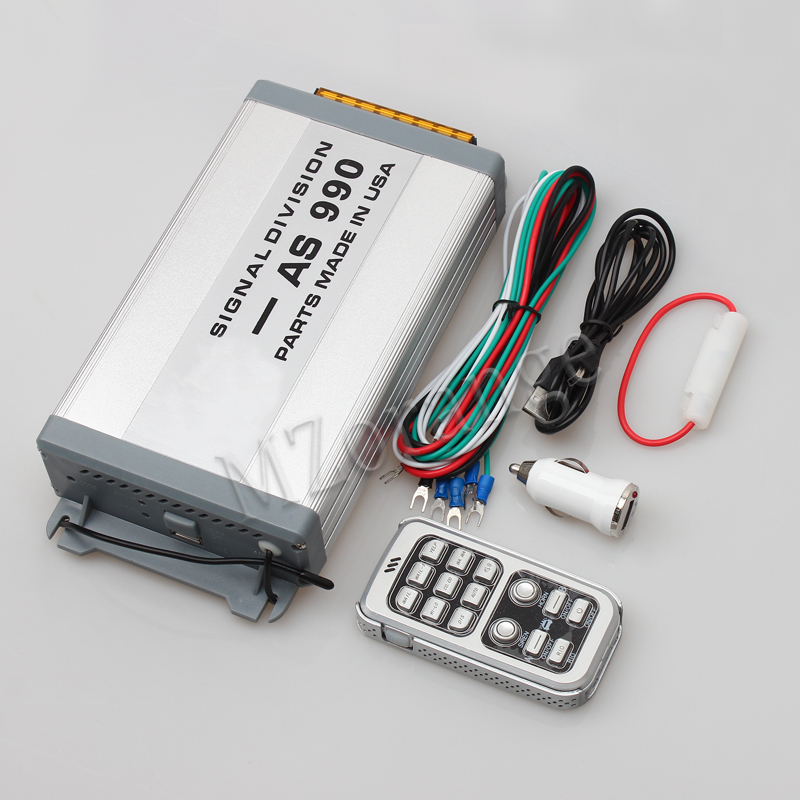 MZORANGE 400 W voiture alarme sirène klaxon hôte AS990 sans fil en alliage d'aluminium Police sirène corne mégaphone haut-parleur pour voiture moto