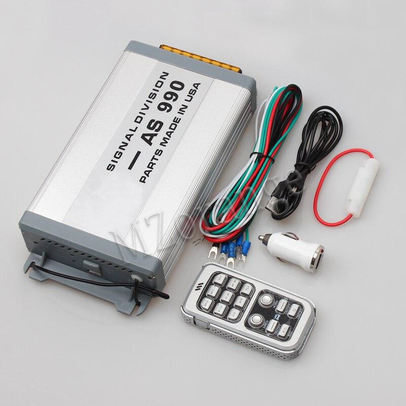 MZORANGE 400W Car Alarm Siren Horn Host AS990 Wireless Aluminum Alloy Police Siren Horn Megaphone Speaker For Car Motorcycle