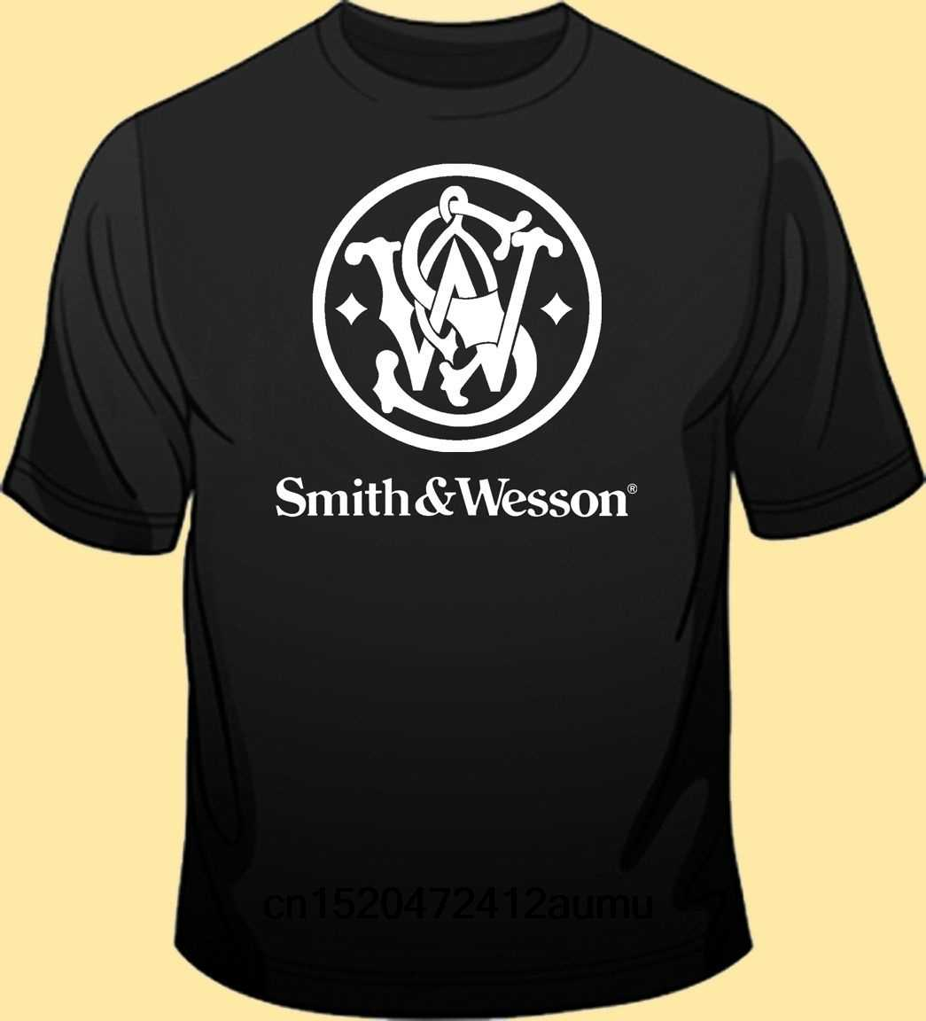 Smith  amp Wesson Mens T-shirt Round Neck Fashion Tee Shirt Casual Top Clothing Fashion Mens Hip Hop T Shirt