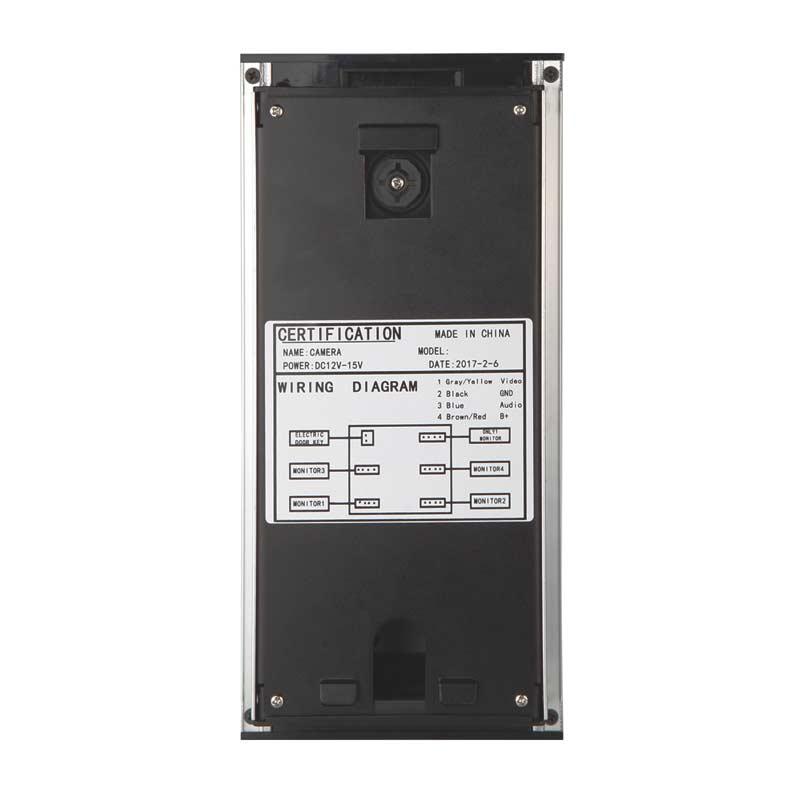 10 apartments video intercom system RFID doorbell CMOS 700Line HD ...