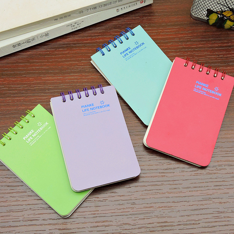 Small Fresh Pocket A7 Notebook Cute Student Korean Creative Stationery Office School Supplies Traveler Journal In Notebooks From
