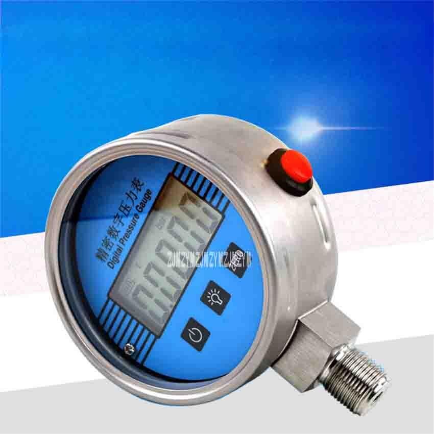 YB 150A de alta pressão eletrônica do sensor 0 100mpa de digitas da precisão do calibre de pressão de aço inoxidável do lcd de 5 dígitos da tabela de vácuo 304 - 5