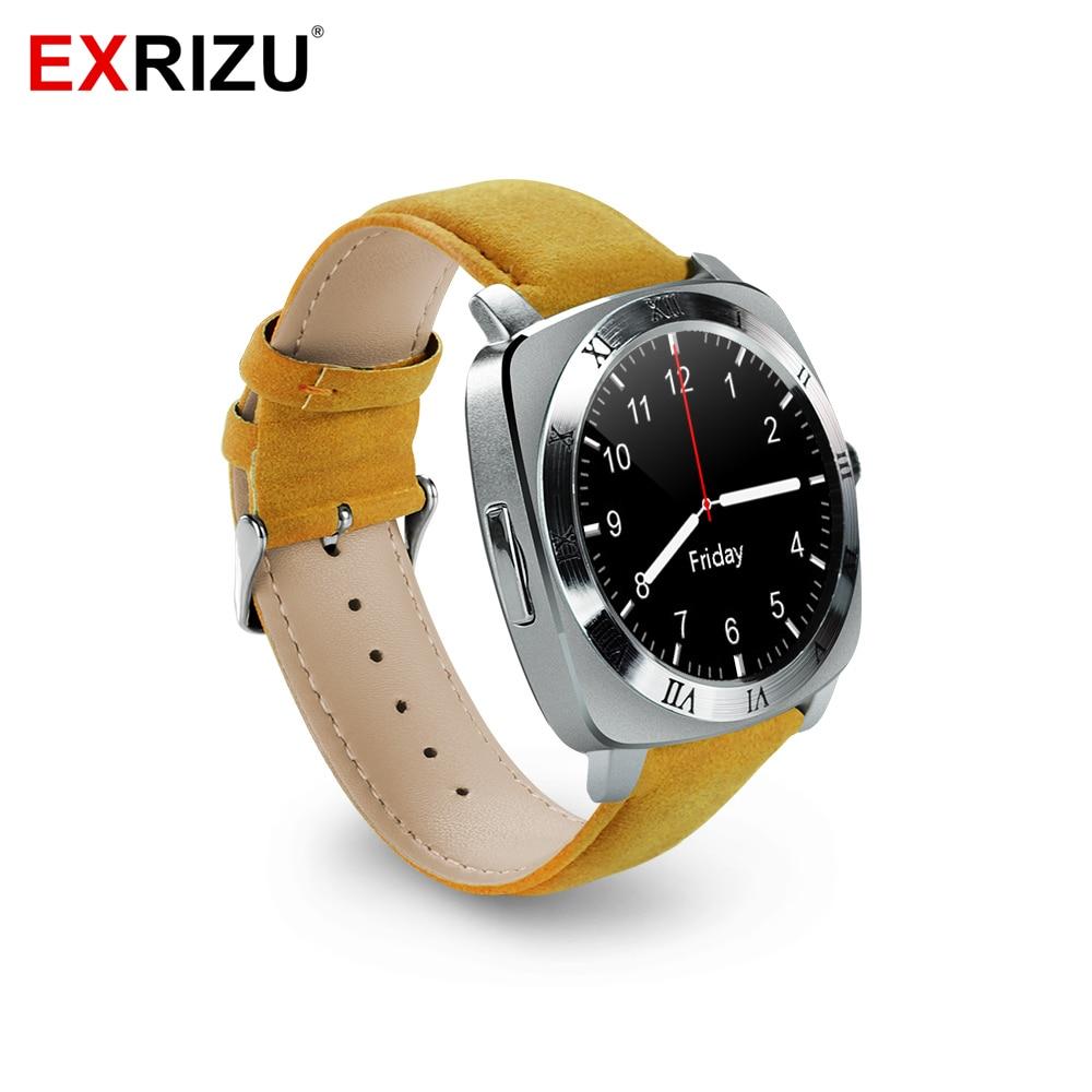 imágenes para EXRIZU Moda Bluetooth Reloj Inteligente de Pantalla IPS Cámara Reproductor de Música SIM Reloj Teléfono Reloj Podómetro Smartwatch para Android iOS