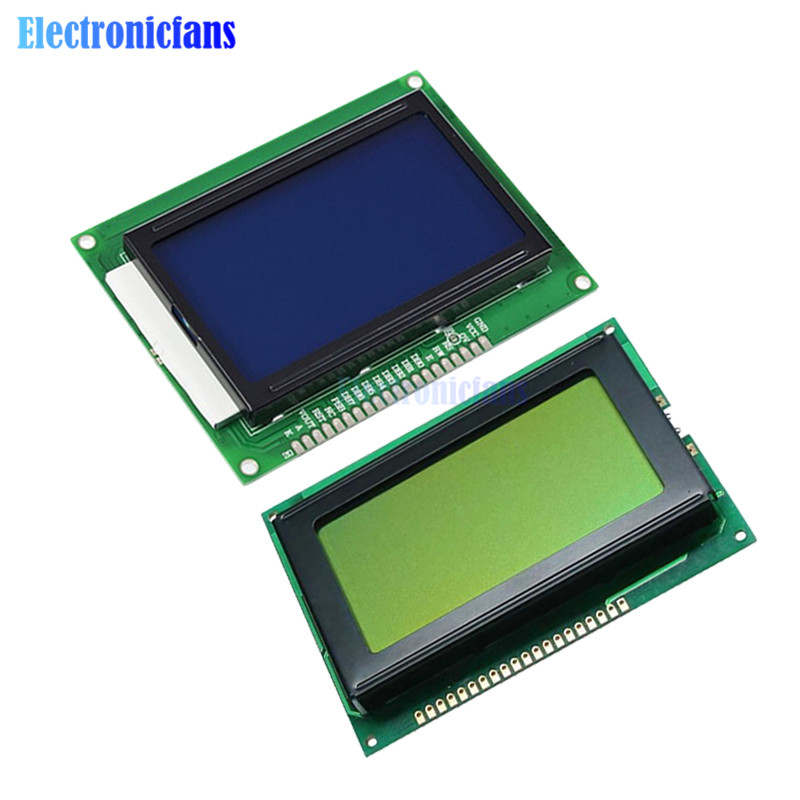 Yellow Green/Blue Color Backlight LCD Display Module 12864 128x64 Dots Graphic For Arduino Raspberry Pi