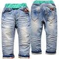 4020 pantalones vaqueros del bebé unisex baby girl jeans pantalones vaqueros del bebé pantalones de mezclilla suave pantalones de los cabritos niños del otoño del resorte de moda SUAVE DENIM