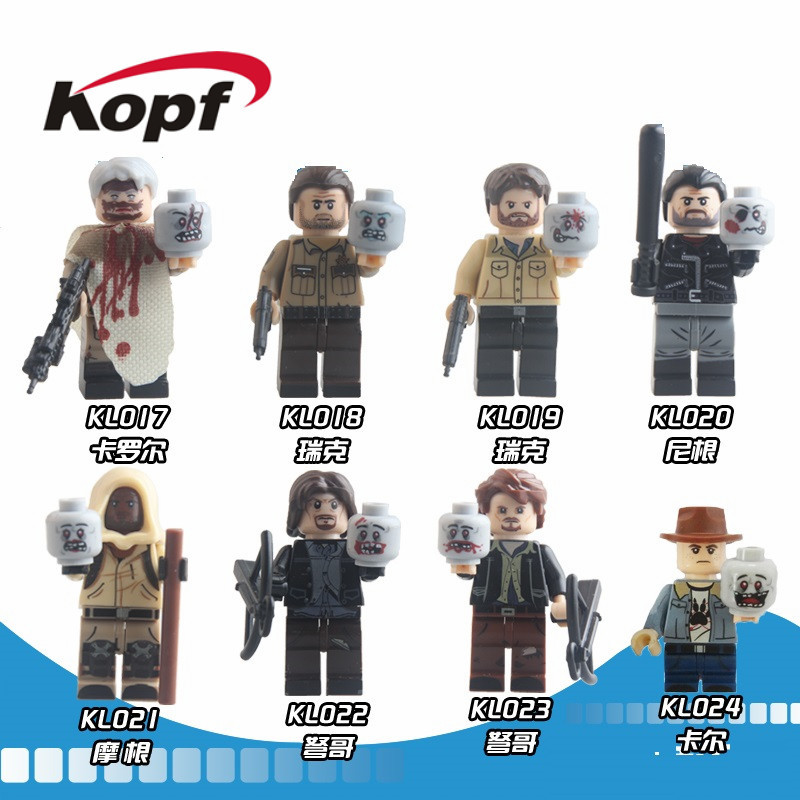 Single Sale Super Heroes The Walking Dead Rick Negan Daryl Dixon Carl Grimes Carol Building Blocks Children Gift Toys KL9003 building blocks the walking dead figures rick negan carl daryl star wars super heroes set assemble bricks kids diy toys hobbies