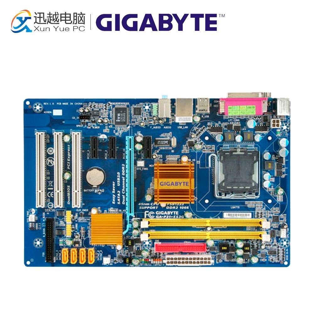 Gigabyte GA-P31-ES3G Desktop Motherboard P31-ES3G P31 LGA 775 DDR2 4G SATA2 ATX стоимость