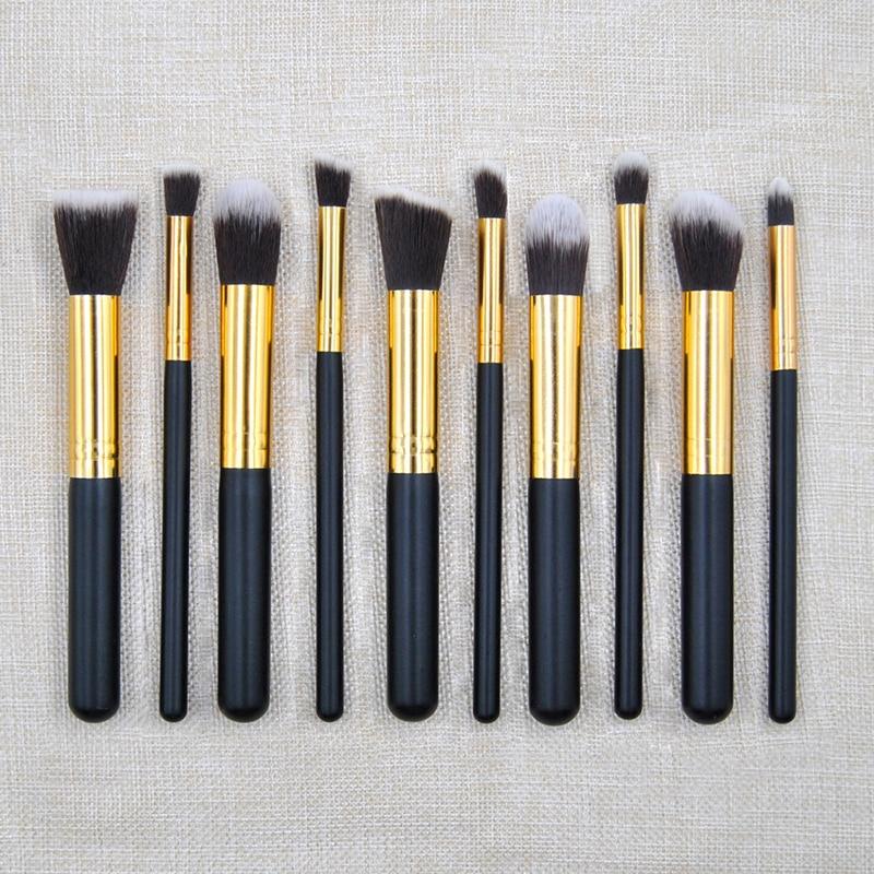 MSQ Pro 10 Pcs Kit De Pinceis De Pinceaux Maquillage Maquiagen Pincel Makeup Brushes Set Brand Brush Styling Tools For Make Up vs набор треугольных спонжей для макияжа 4 шт triangular makeup sponges set kit de eponges de maquillage triangulaires