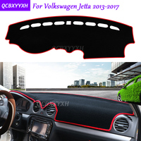 For Volkswagen Jetta 2013 2017 Dashboard Mat Protective Interior Photophobism Pad Shade Cushion Car Styling Auto