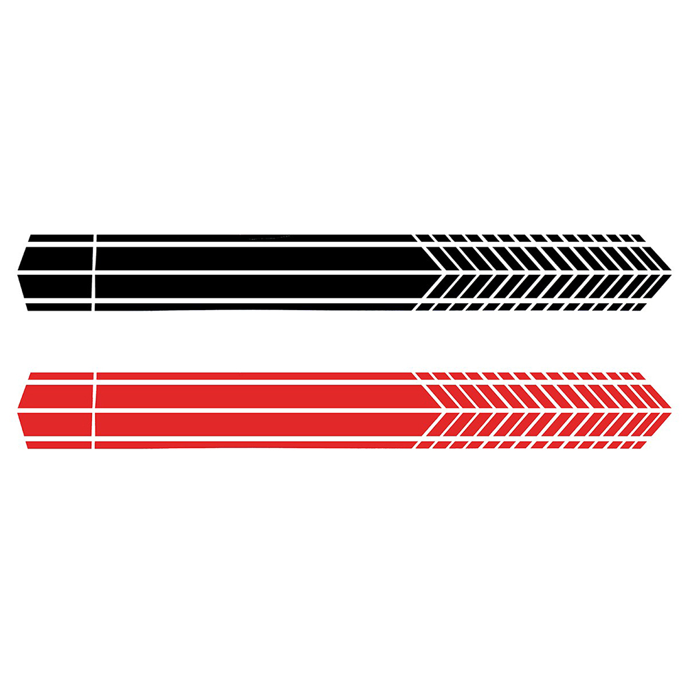 2Pcs Sports Racing Stripe Stickers Car Vehicle Body Door Side Decals Decor in Car Stickers from Automobiles Motorcycles