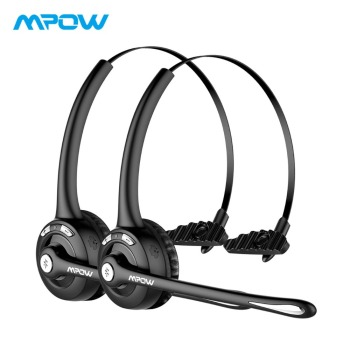 Mpow Pro Wireless Headphones Hands-free Noise Cancelling Bluetooth Headphone With Crystal Clear Calling For Call Center 2 PACK