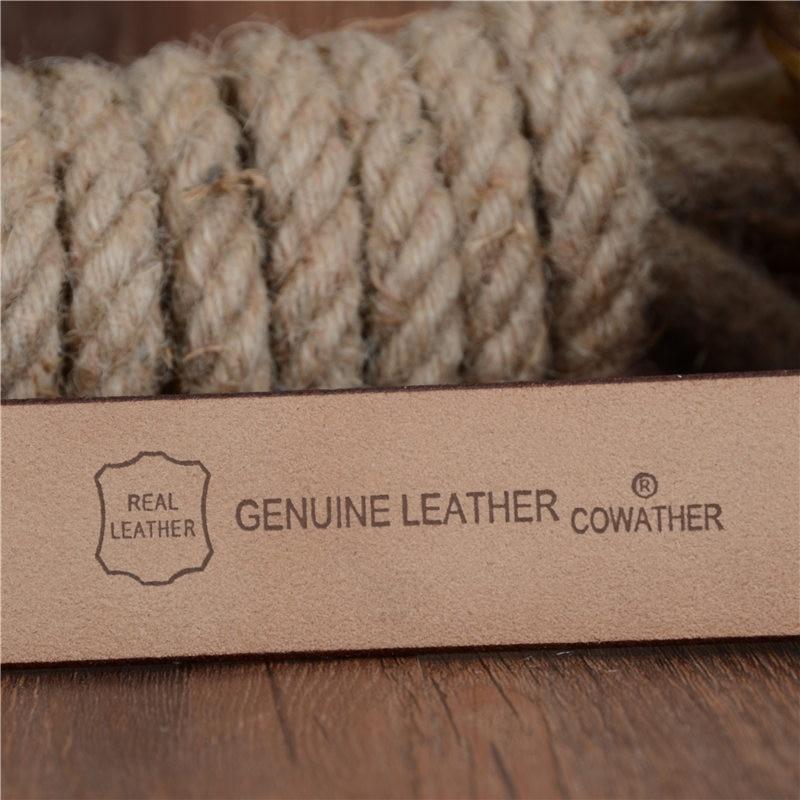 COWATHER män bälte ko äkta läder designer bälten för män - Kläder tillbehör - Foto 5