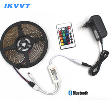 IKVVT Bluetooth Wireless 2835 RGB LED Strip Light Waterproof 3528 RGB Tape Tira Diode Ribbon 12V LED Neon Light Power supply 12V 1pcs 3528 1210 patch waterproof led soft light strip 30cm15 automobile 12v soft light strip