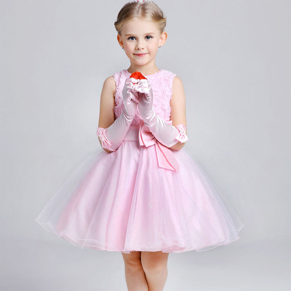 Summer Style Dress Flowers Girl Dresses for Wedding Party Cute Girls ...