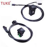 TUKE RCD510 + 310/315 OEM VW AUX commutateur USB avec cable metallique pour VW Golf MK6 Golf SCIROCCO 5KD 035 726 5KD 035 724