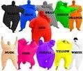 Cacho de adultos Traje Inflable Blow Up Color de Cuerpo Completo Traje Del Mono de 5 Colores