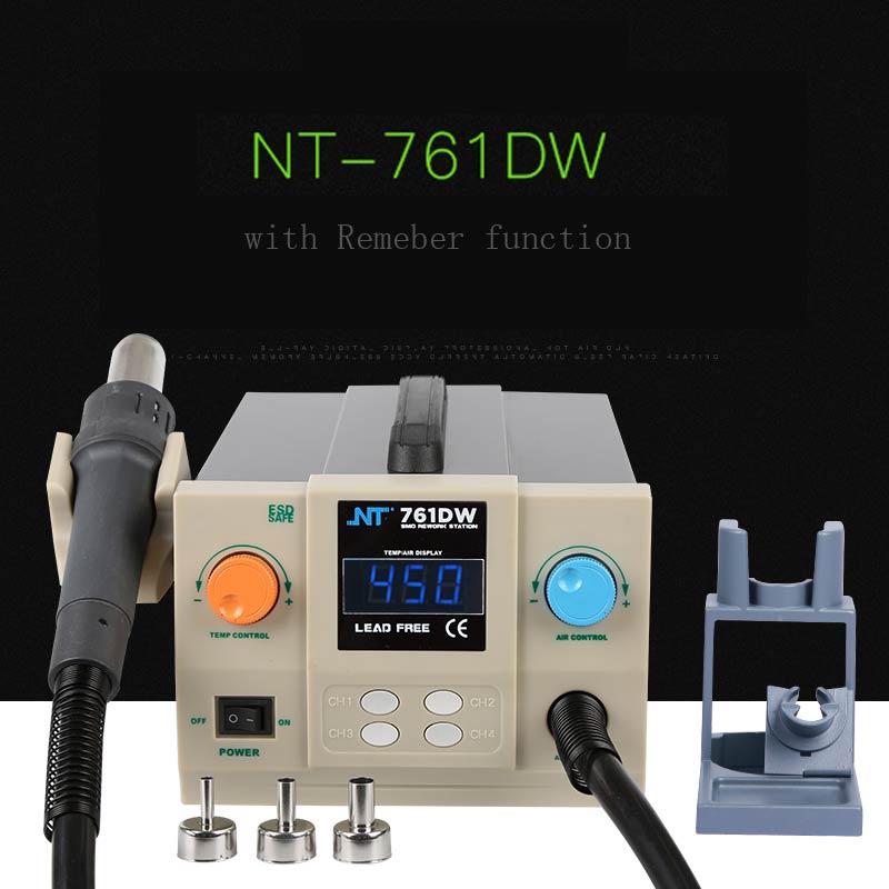2019 New 761DW 700W Quick Soldering Rework Station Kit Digital Rework Station Hot Air Gun 100