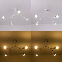 Múltiples cabezas moderna de techo Led luz de techo de Loft Industrial lámpara para la sala de estar dormitorio hogar Decoración