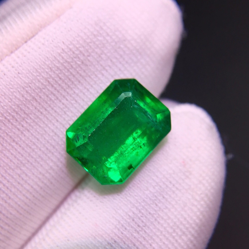 Loose Gemstone 1.91ct  Vivid Green Natural Emerald Gemstones Sugar Loaf Loose Gemstones Loose Stone GemsLoose Gemstone 1.91ct  Vivid Green Natural Emerald Gemstones Sugar Loaf Loose Gemstones Loose Stone Gems