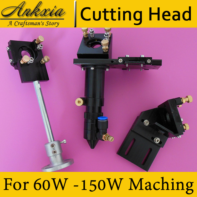 Co2 laser head mechanical components for co2 laser cutting engraving machine mirror mounts for 20mm lens and 25mm mirrors laser cooling fan for laser cutting and engraving machine