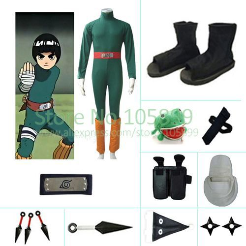 Rock Lee Halloween font b Cosplay b font Costume from font b naruto b font