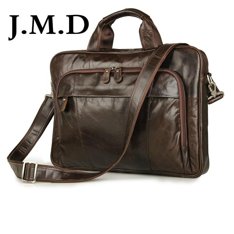 J.M.D 2017 New High Quality 100% Genuine Leather Men Messenger Bag Shoulder Crossbody Bag Handbags 7334 niuboa new genuine leather bag men vintage men s crossbody messenger bag high quality natural shoulder handbags leather bags