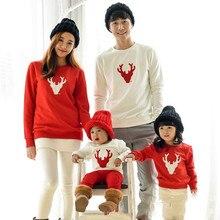 Семейные комплекты Рождественская Пижама зимние хлопковые с длинным рукавом мама и папа Детская толстовка детская одежда для сна пижамы CE120