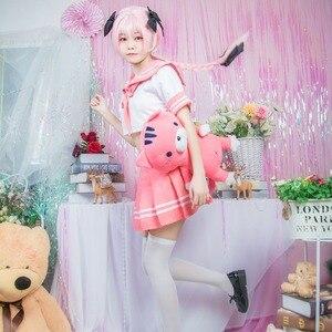 Image 3 - Cavaliere nero Apocrypha Astolfo Costume Cosplay Giapponese Studente Ragazza Della Scuola Uniforme Arco Parrucca di Halloween Vestito Da Marinaio Set Completo 2018