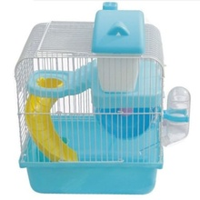 Hot Hamster Gerbil Mouse Small Pet Cage 2 Storey Levels Floor Water Bottle Wheel